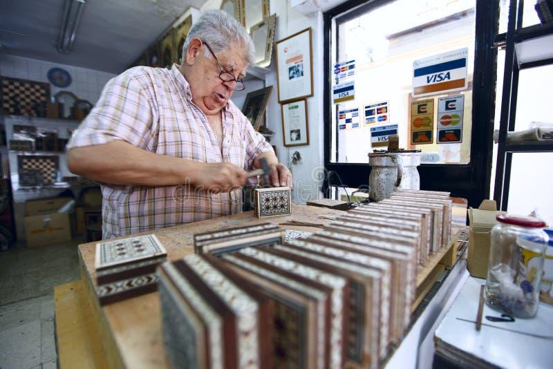 Fabricante de la tarjeta de ajedrez foto de archivo libre de regalías