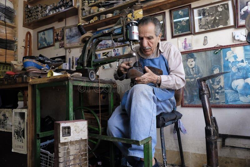 Fabricante de zapato foto de archivo