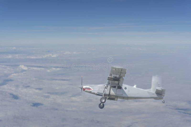 Fabricante del melocotón del AU 23 o avión de ataque fotos de archivo libres de regalías