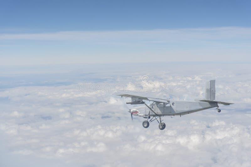 Fabricante del melocotón del AU 23 o avión de ataque imágenes de archivo libres de regalías