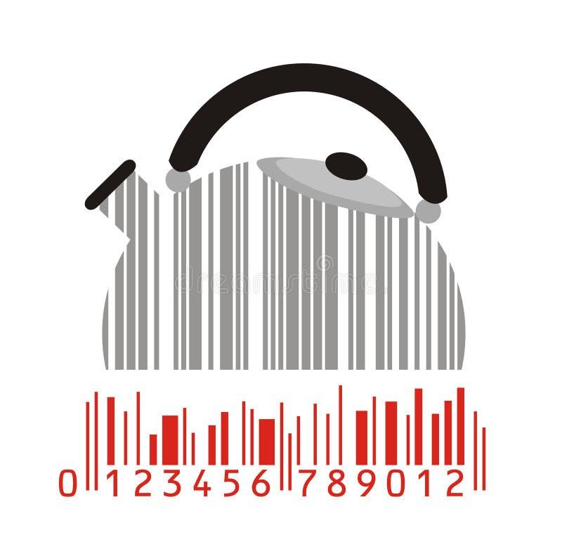Fabricante e código de barras ilustração royalty free