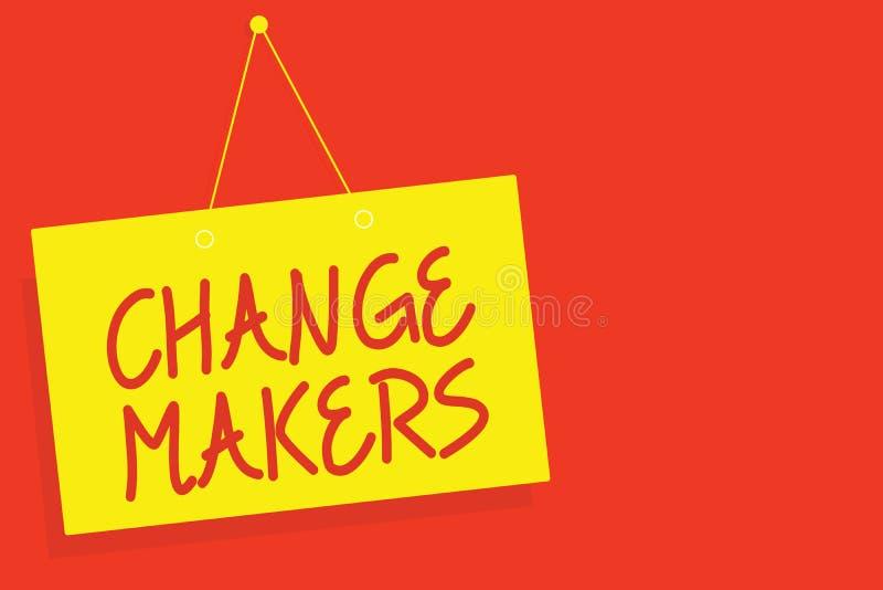 Fabricants de changement d'écriture des textes d'écriture Concept signifiant le jeune conseil de GEN X Yellow de Turk Influencers illustration stock