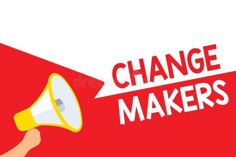 Fabricants de changement des textes d'écriture de Word Concept d'affaires pour de jeunes louds de GEN X Megaphone de Turk Influen illustration libre de droits