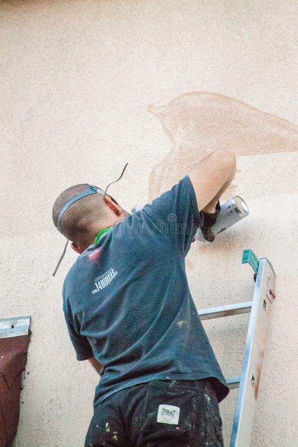 Fabrication de graffiti photographie stock libre de droits