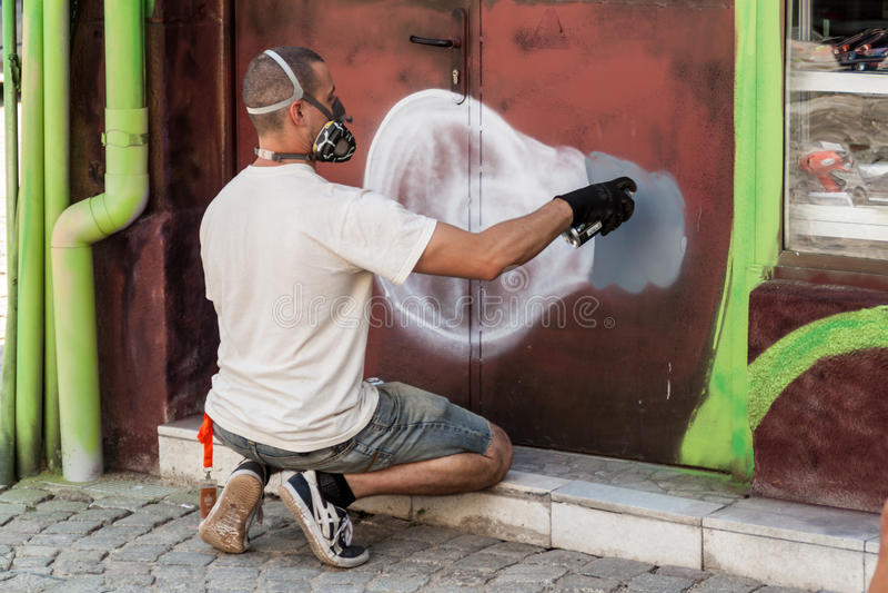 Fabrication de graffiti photos libres de droits