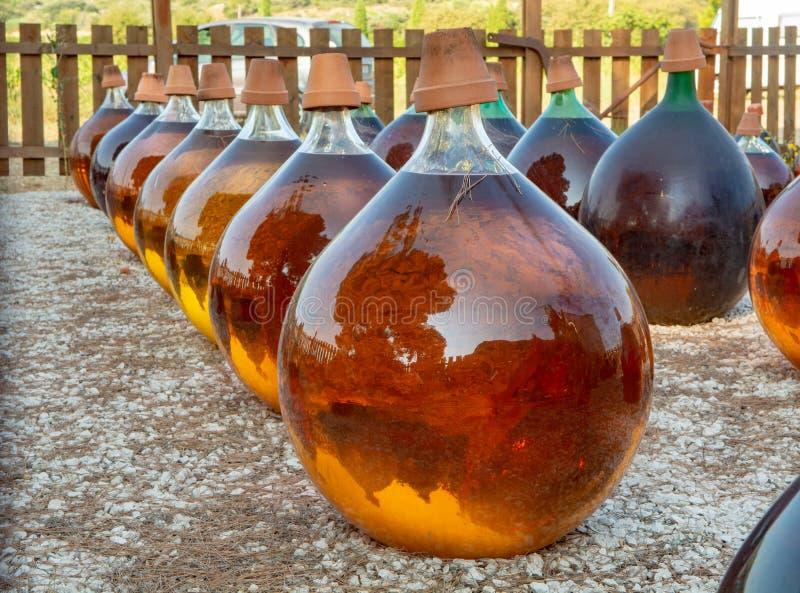 Fabrication de l'outsid doux naturel de vin blanc de liqueur de muscat de dessert image stock