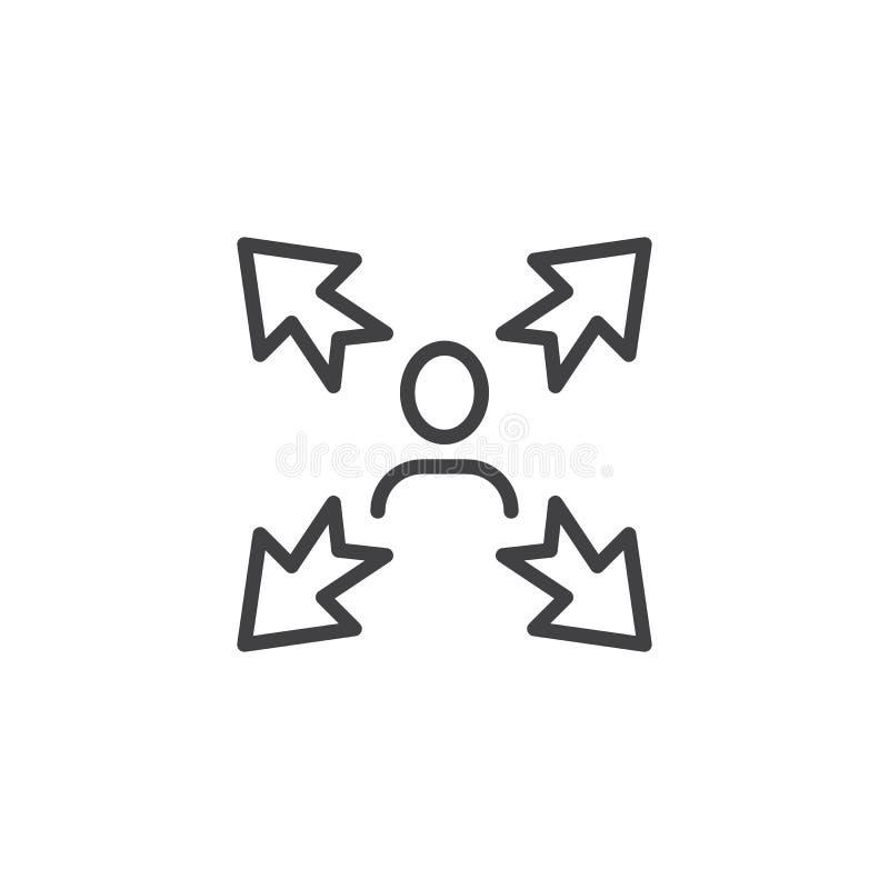 Fabrication de la ligne icône de décision illustration stock