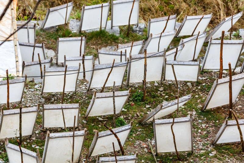 Fabrication de papier traditionnelle photo libre de droits