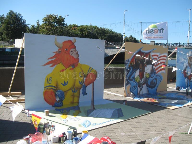 Fabrication du graffiti photos libres de droits