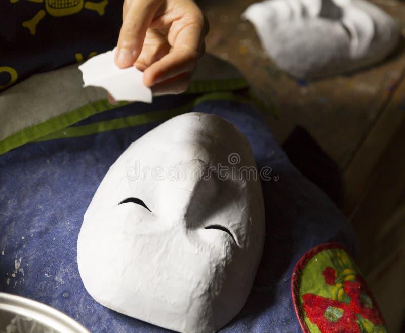 Fabrication du masque image stock