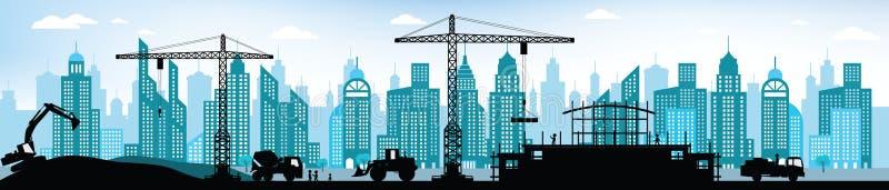 Fabrication du nouveau bâtiment dans la ville