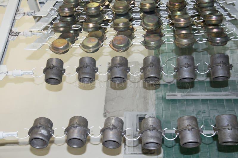 Fabrication en aluminium de pièce de haute précision par le castng et l'usinage photographie stock libre de droits