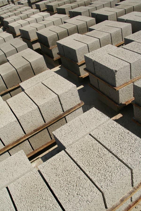 Fabrication industrielle de brique photographie stock