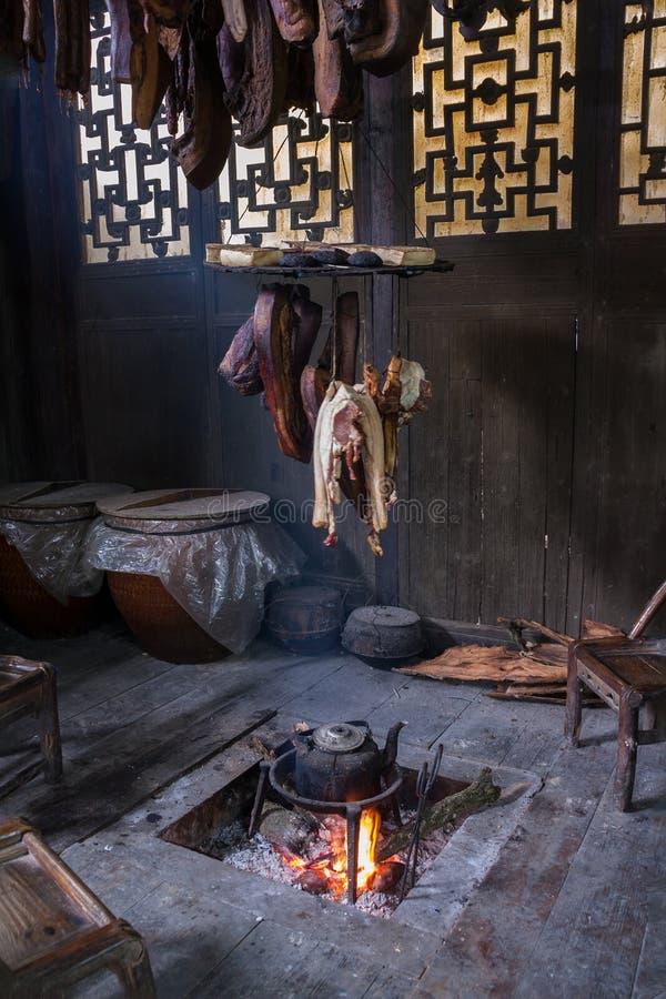 Fabrication préservée chinoise de viande de porc photo libre de droits
