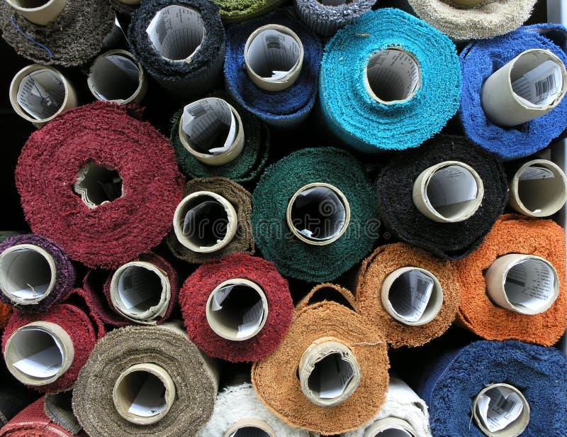 Fabrics bolt. A many upholstery fabrics bolt stock images