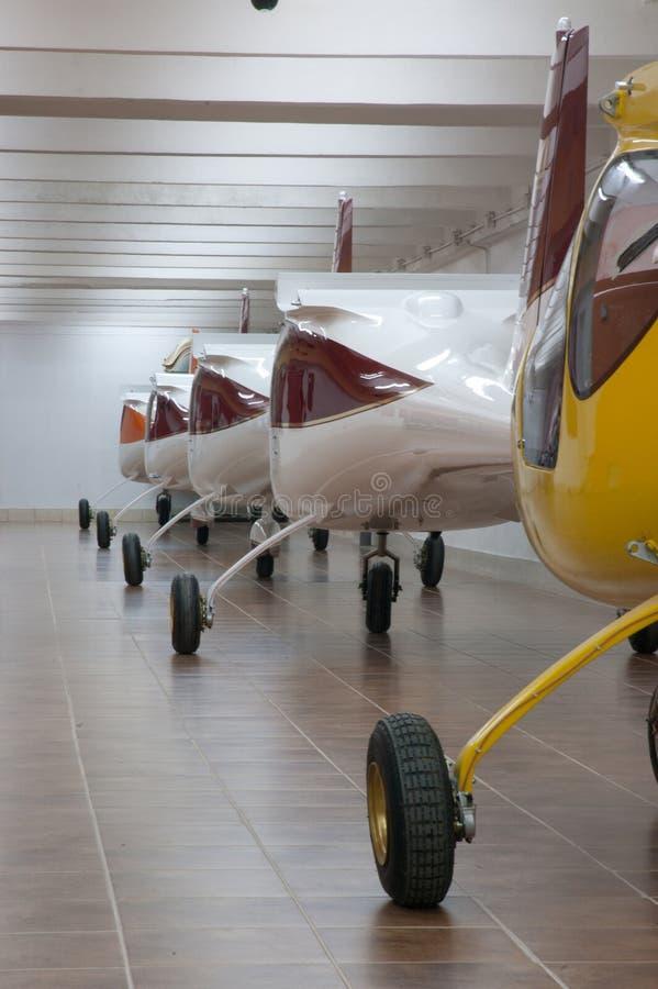 Fabriek 3 van vliegtuigen royalty-vrije stock foto's