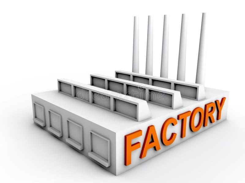 Fabriek royalty-vrije illustratie