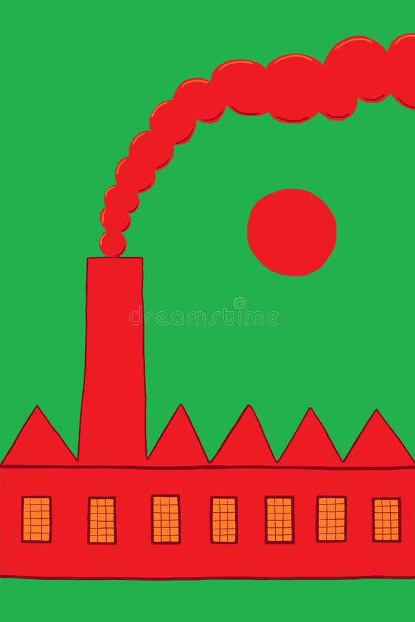 Fabriek vector illustratie