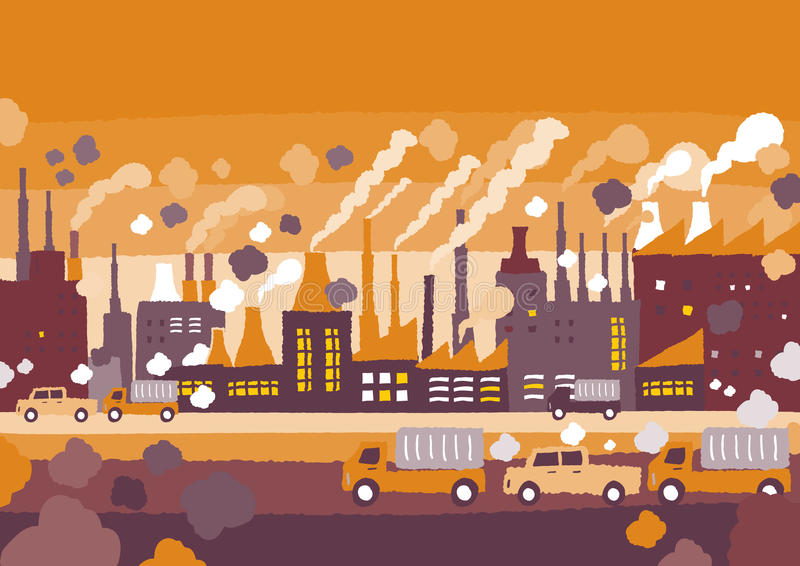 Fabriek in de stadsconcepten vector illustratie
