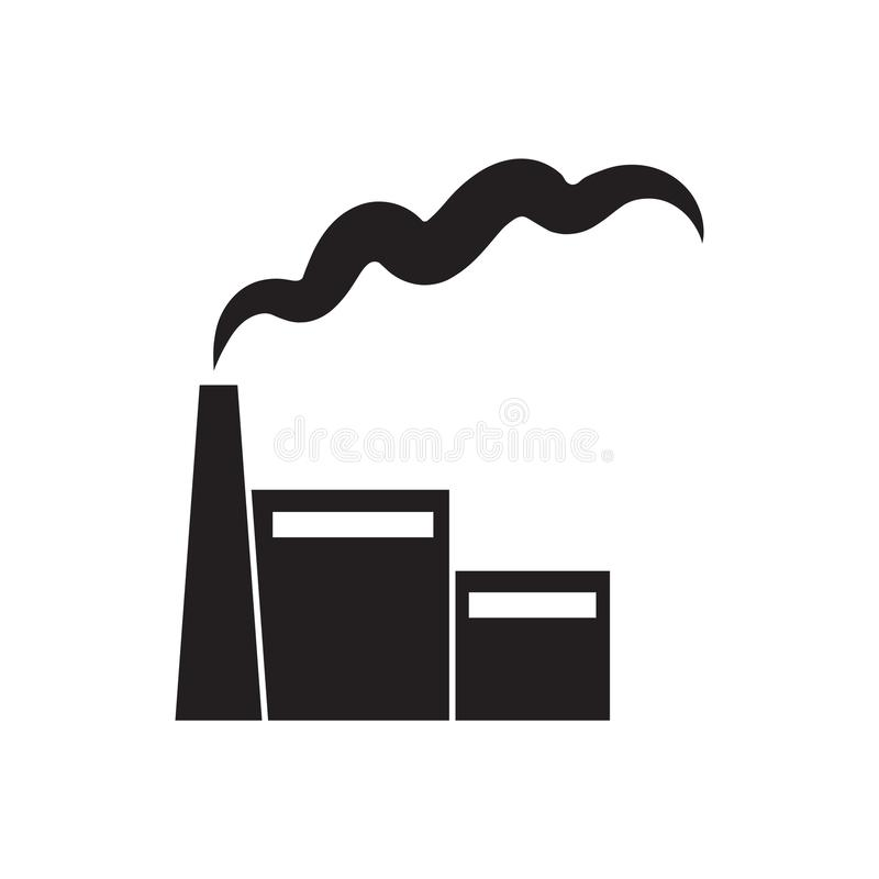 Fabriek of elektrische centralepictogram vector illustratie