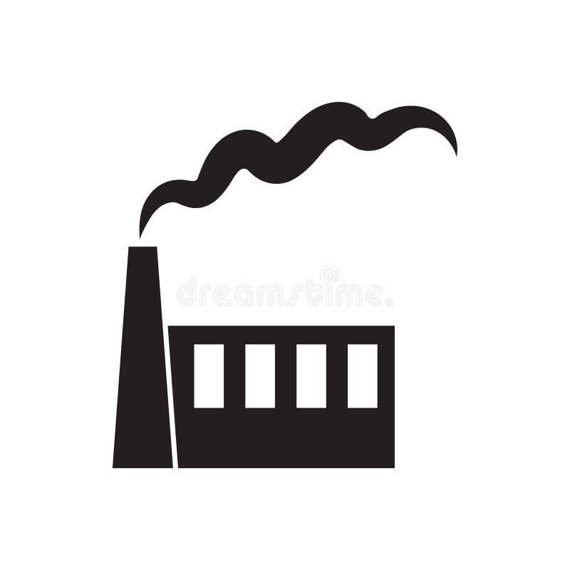 Fabriek of elektrische centralepictogram royalty-vrije illustratie