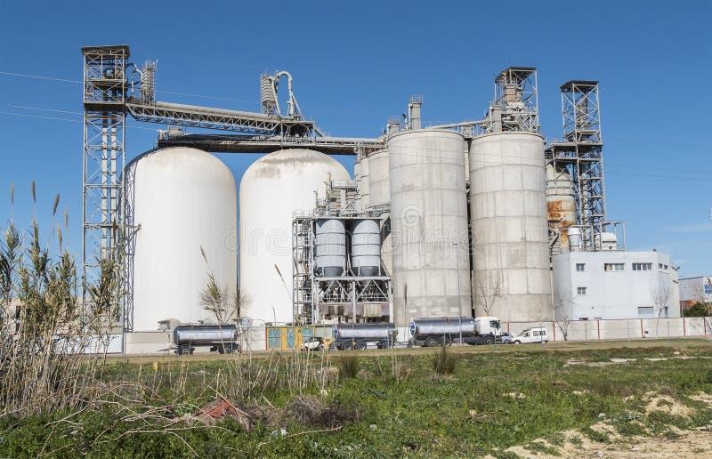 Fabriek, industriële gebouwen, milieu royalty-vrije stock fotografie