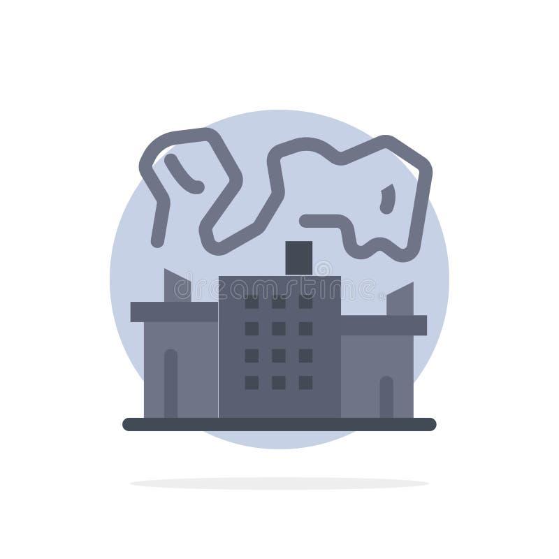 Fabriek, Industrie, Kern, van de Achtergrond machts Abstract Cirkel Vlak kleurenpictogram vector illustratie