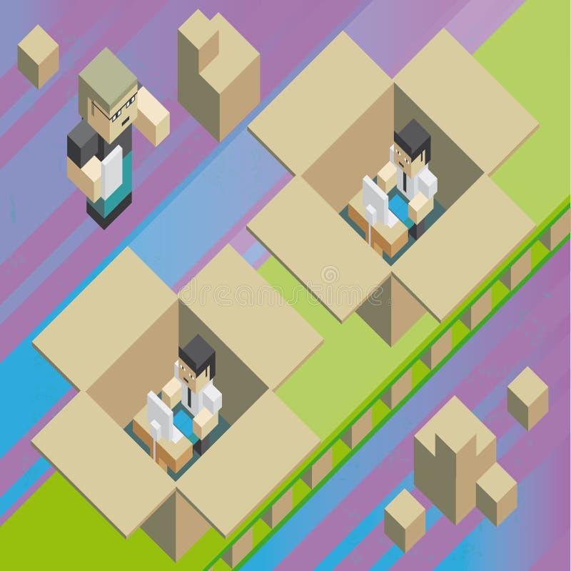 Fabriek van werkgelegenheid stock illustratie