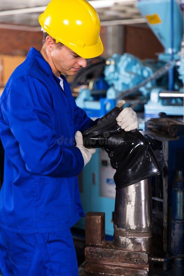 fabrieksarbeider gumboot royalty-vrije stock foto's