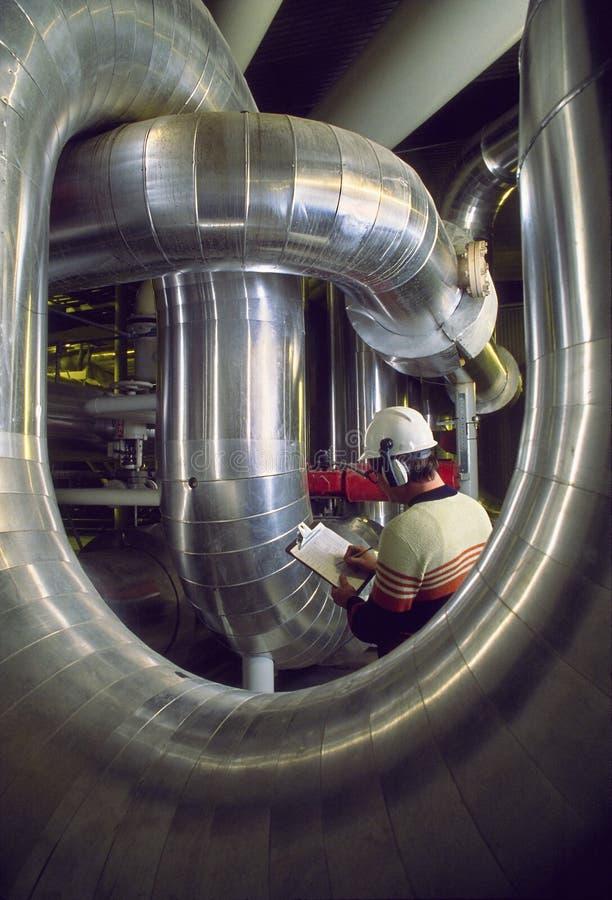Fabrieksarbeider, Inspecteur royalty-vrije stock fotografie
