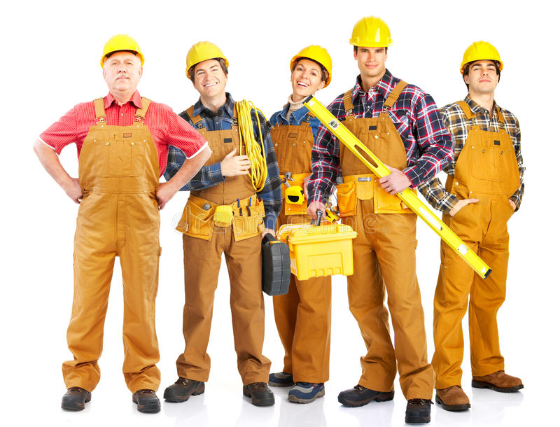 Fabrieksarbeiders stock fotografie