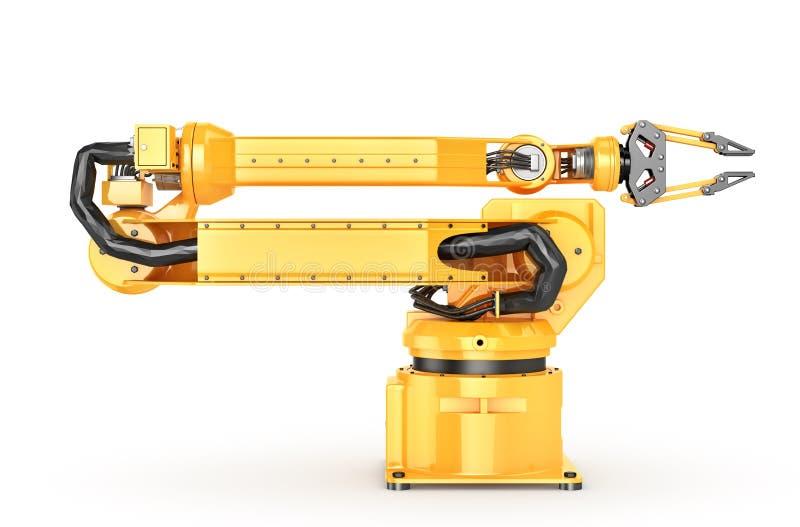 Fabrieksmanipulator Automatische hand voor transportband stock illustratie