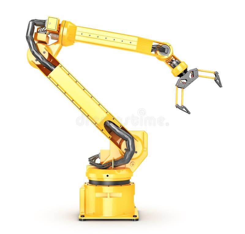 Fabrieksmanipulator Automatische hand voor transportband royalty-vrije illustratie