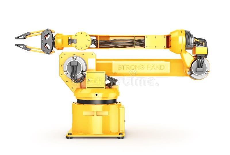Fabrieksmanipulator Automatische hand voor transportband vector illustratie