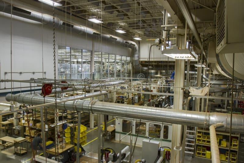 Fabrieksvloer voor C F Martin Guitar stock foto