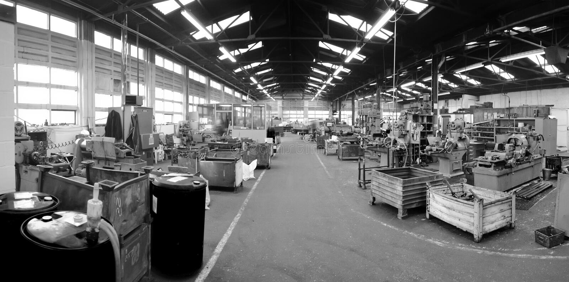 fabrik royaltyfri bild