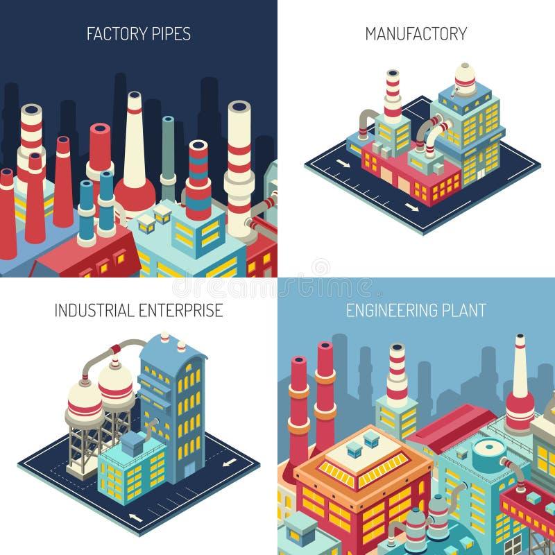 Fabrik-isometrisches Konzept des Entwurfes lizenzfreie abbildung