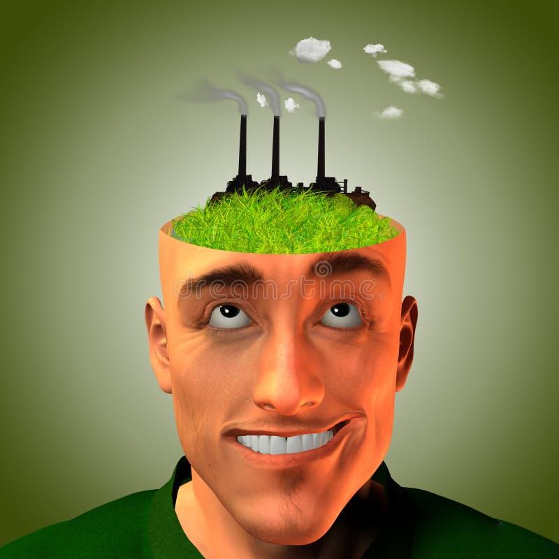 Fabrik-Kopf vektor abbildung