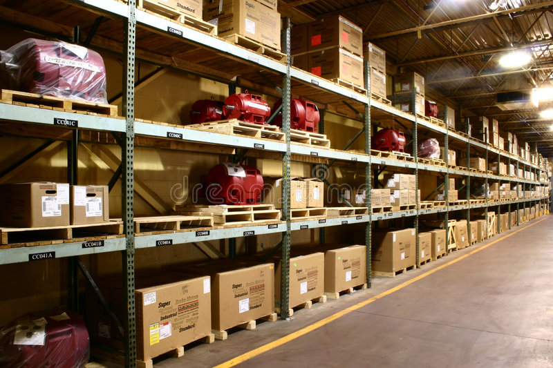 Fabrik-Lager stockfotos