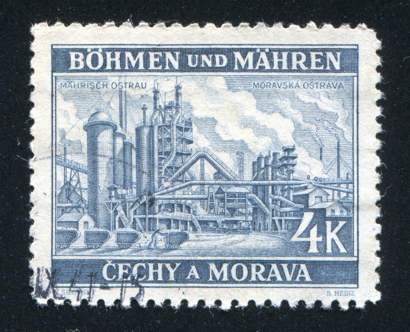 Fabrik på Moravska Ostrava royaltyfri fotografi