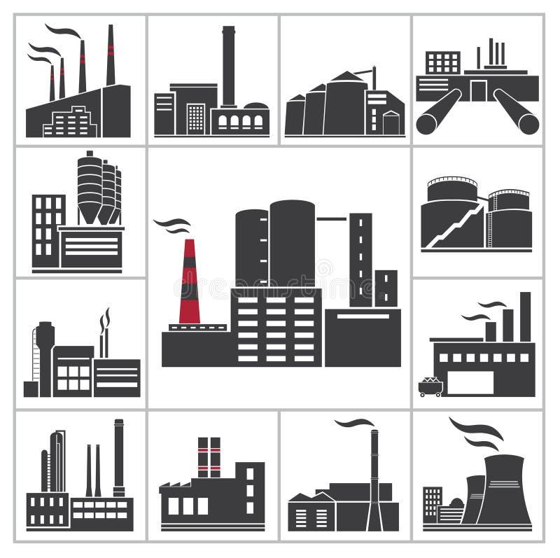 Fabrik und Industrie stock abbildung