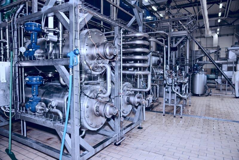Fabrik zur Weiterverarbeitung von Lebensmitteln stockfoto