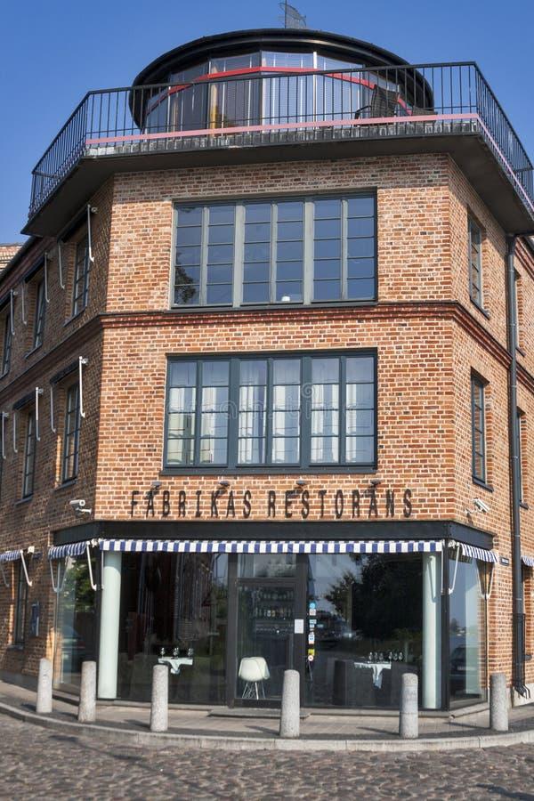 Fabrikas Restorans in Riga, Latvia stock images