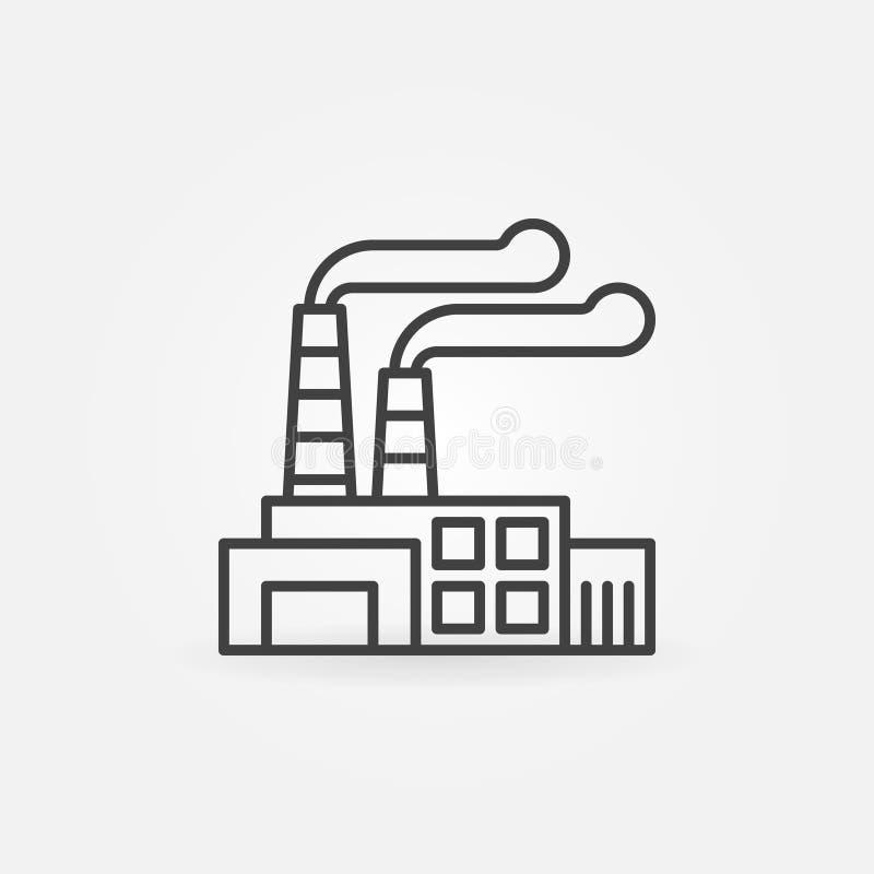 Fabrikentwurfsikone vektor abbildung