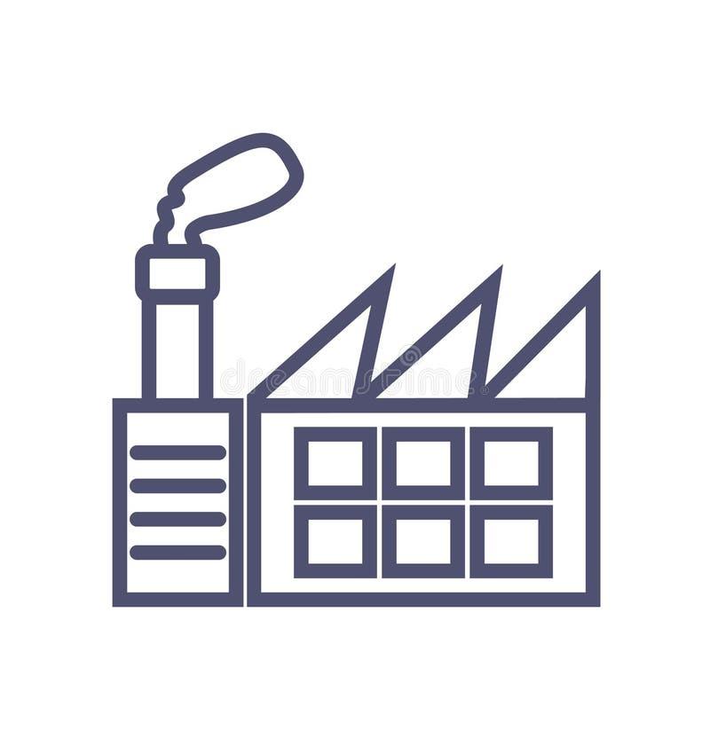 Fabrikikone einfaches sauberes Fabrikzeichensymbol - Vektorillustration vektor abbildung