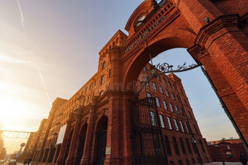 Fabriks- byggnader som omformas in i det eleganta stället för shopp royaltyfri foto
