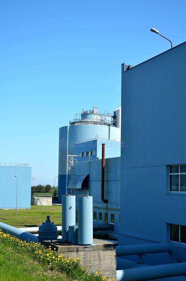 fabriksbehandlingwastewater arkivfoton