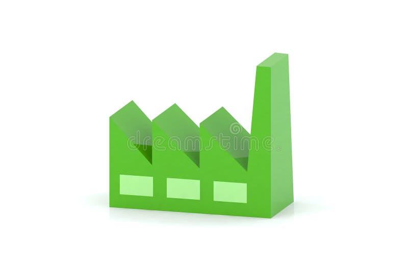 fabriksgreen stock illustrationer