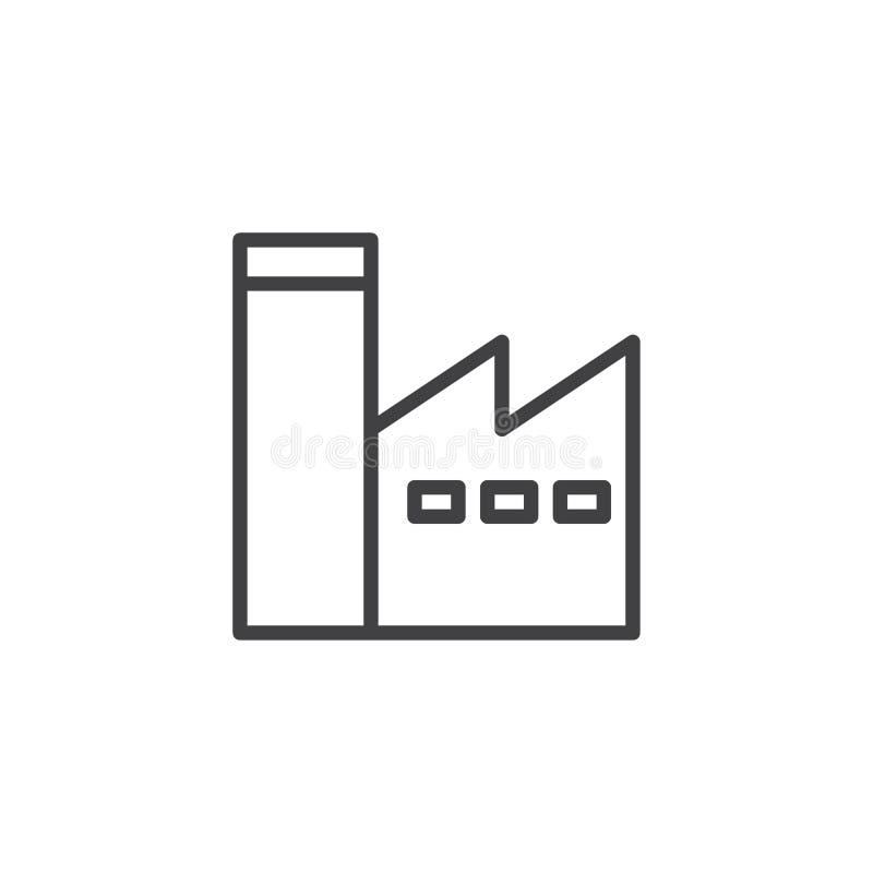 Fabrikssationlinje symbol royaltyfri illustrationer