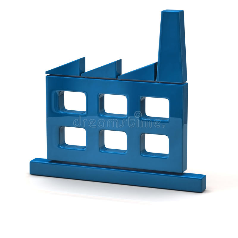 Fabrikssymbol vektor illustrationer